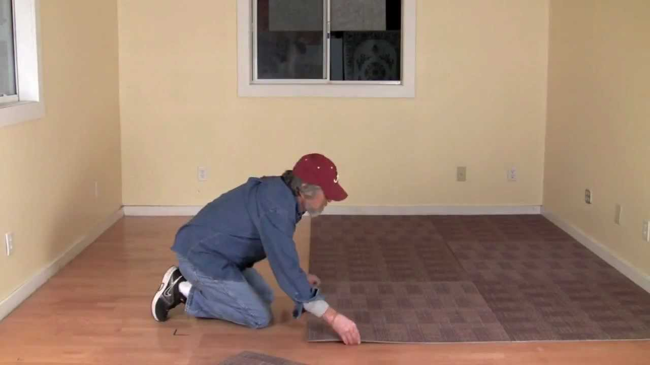 What are carpet tiles and how to install them yourself youtube dailygadgetfo Choice Image