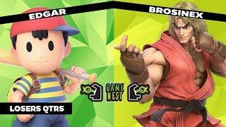 Game Nest Smash It Up: Edgar (Ness) vs Brosinex (Ken/Ike) (Losers Qtrs)
