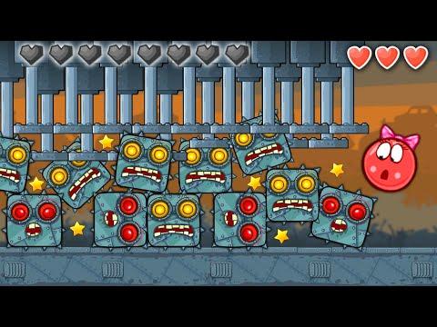 Красный Шар - мод на 1000 Боссов на уровне ! Red Ball 4 mod 100 square шарик от Спуди   !