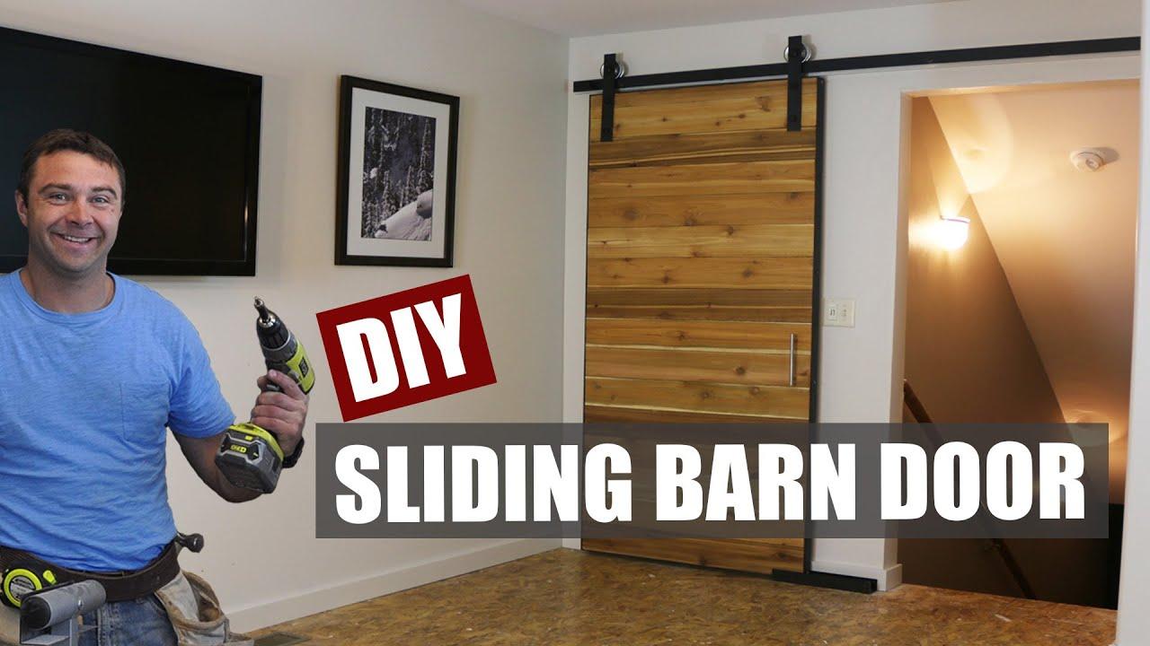 How to Make a Sliding Barn Door  YouTube