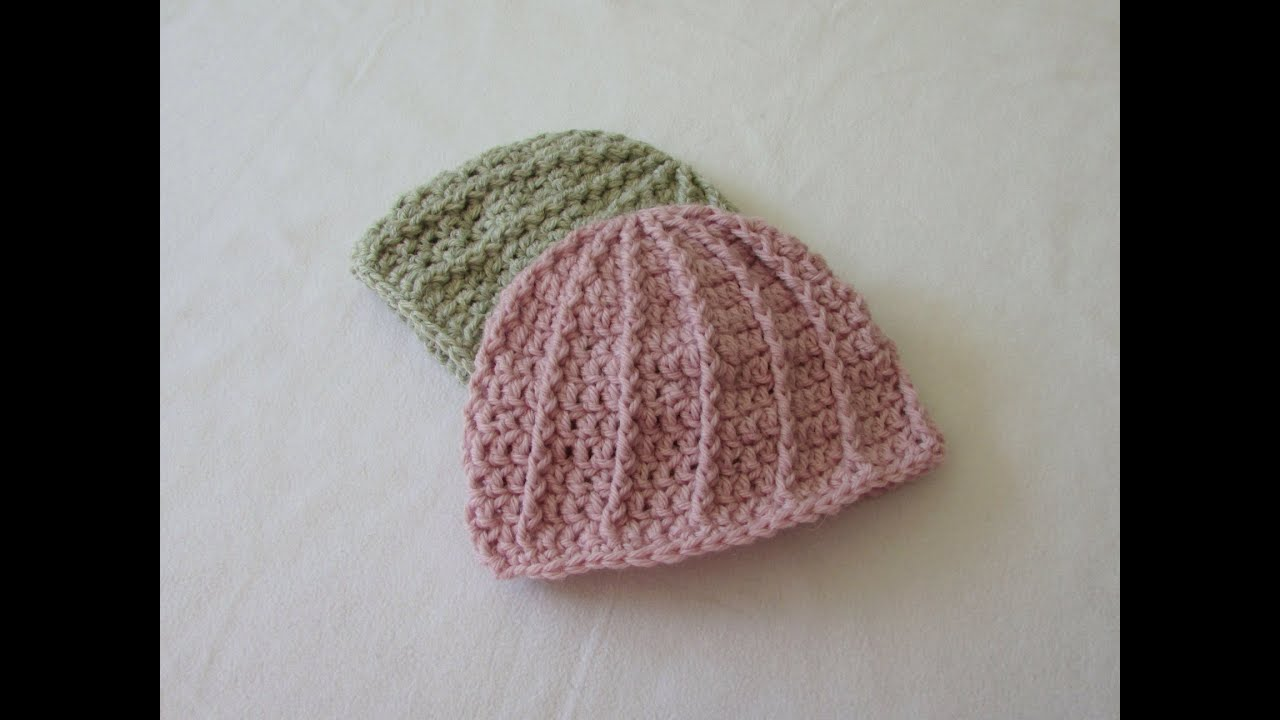 94f24907133 VERY EASY crochet cable baby hat   beanie tutorial - YouTube
