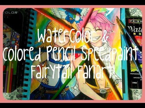 fairy-tail-fan-art:-watercolor/colored-pencil-speedpaint