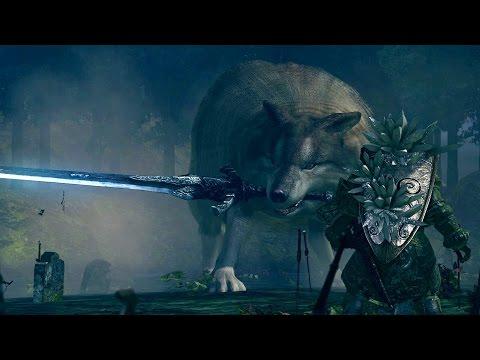 Dark Souls: Great Grey Wolf Sif Boss Fight (4K 60fps)