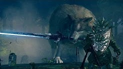 Dark Souls: Great Grey Wolf Sif Boss Fight (4K 60fps)