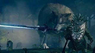 dark souls great grey wolf sif boss fight 4k 60fps