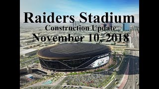 Las Vegas Raiders Stadium Construction Update 11 10 18
