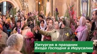 Литургия в Вербное воскресенье