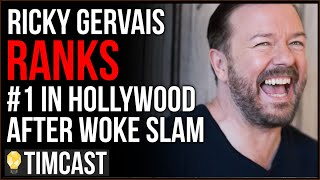 Ricky Gervais Jumps To Rank #1 After EPIC SLAM Of Faux Woke Hollywood Leftists