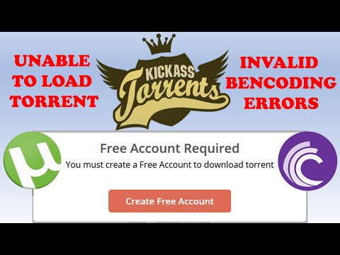 Unable To Load Torrent / Invalid Bencoding Errors - Fixed