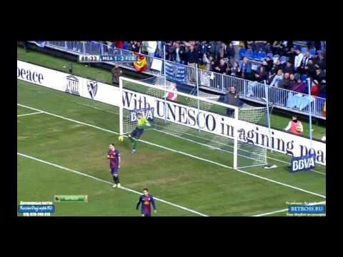 BUONANOTTE GOAL VS BARCELONA [ MALAGA VS BARCELONA 1-3 ] [13-1-2013] [HD]