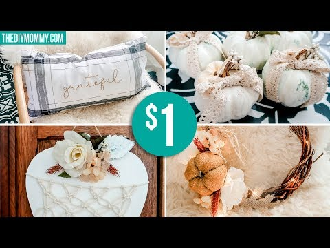 DOLLAR TREE DIY FALL DECOR 🍂 Shabby Chic Boho Romantic