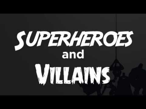 Frisbee Game - Superheroes And Villains