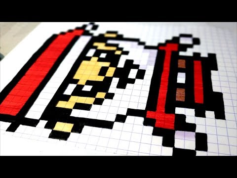 Art Comment Dessiner Un Pere Noel En Pixel Art Asmr