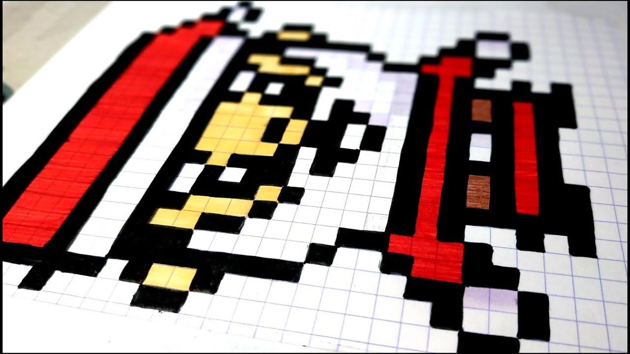 Art Comment Dessiner Un Pere Noel En Pixel Art Asmr Pixelart