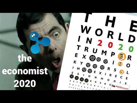 The Economist 2020 криптовалюта Ripple Bitcoin банки города события