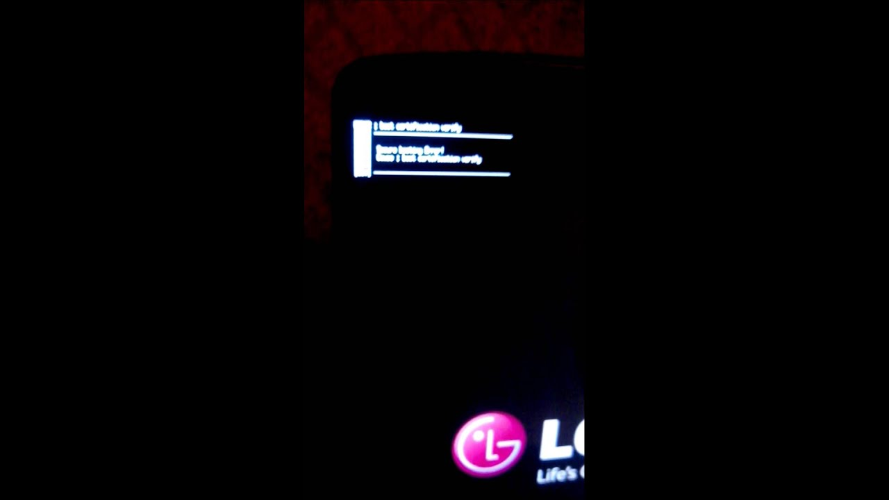 Lg g3 security error boot no download mode only th