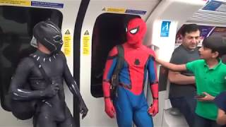 Spider-Man & Black Panther in London / Funny Life of Super-Heroes 🇬🇧
