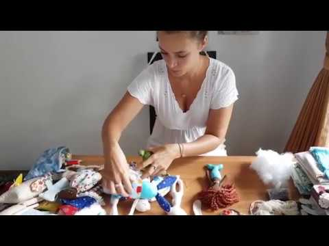 SrawberryPatches Episode 11: Bali, handdyed cotton, handmade toys and crochet blanket