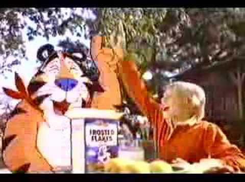 Frosted Flakes - Tony the Tiger rides a horse