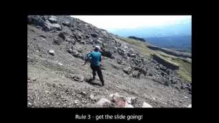 Beginners guide to descending steep scree