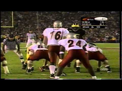 1998 rose bowl MICHIGAN vs RYAN LEAF and WSU