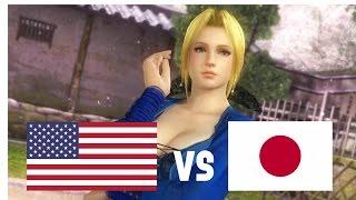 DOA5LR English Vs Japanese Voice Comparison (Part 2) (Helena, Kokoro, Bayman)