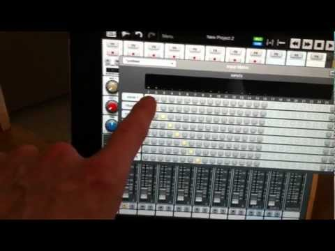 behringer x32 digital mixer with auria ipad recording app youtube. Black Bedroom Furniture Sets. Home Design Ideas