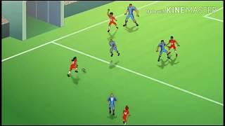 La película de dibujos animados Afsomali Ah Real vs Barca