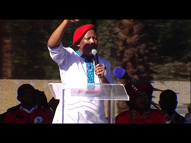 South African EFF Leader Julius Malema's Africa Day address.
