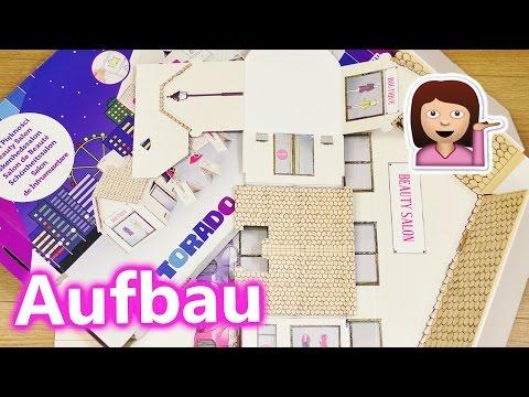 XXL Beauty Salon Aufbau | Tektorado Puppenhaus zum selber bauen mit vielen Stickern