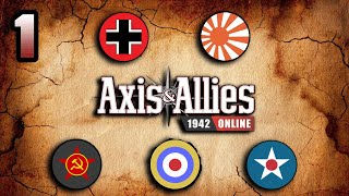 Axis & Allies 1942 Online: Community Game #2 - Round 1: Shaky start for Russia!