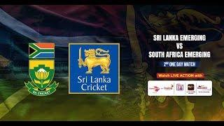 Sri Lanka Emerging vs South Africa Emerging - 2nd One Day Match