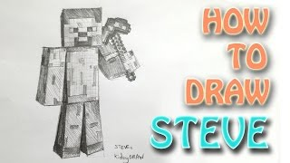 How to draw Steve from Minecraft with PickAXE