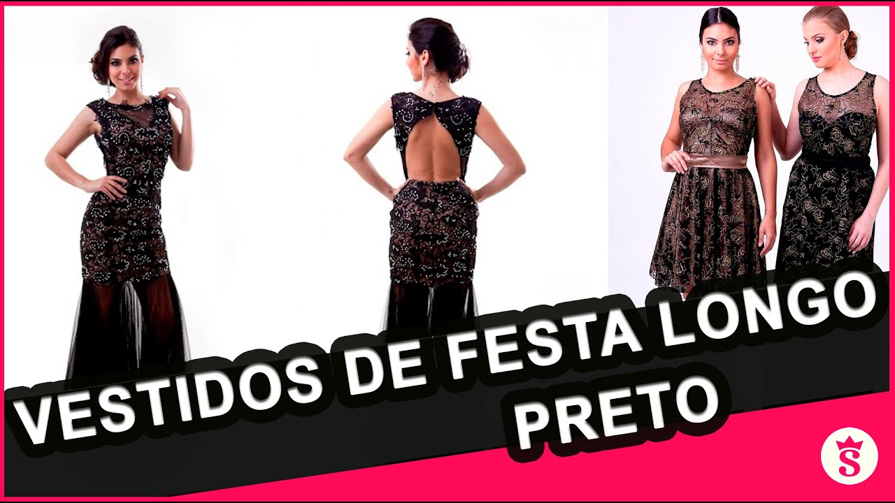 df5cc4ad6 Vestidos Longos Preto para Locação em Curitiba - Shine Vestidos -  4 ...