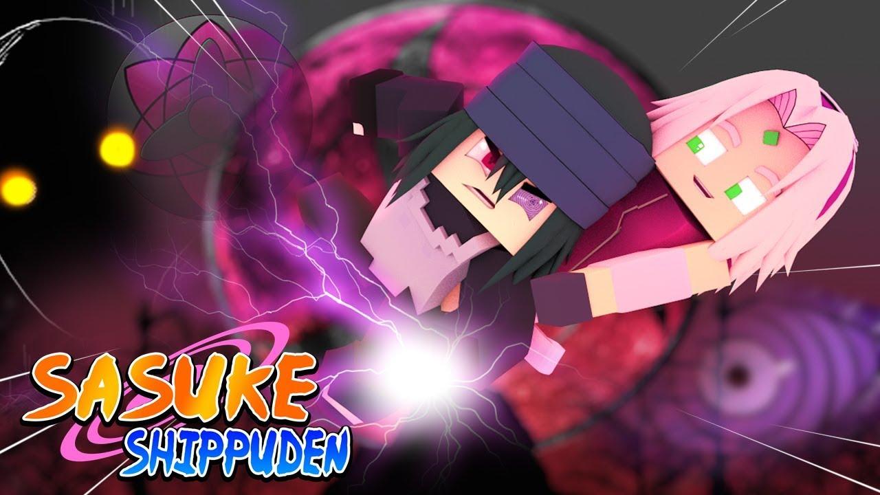 minecraft sasuke shippuden o novo poder do sharingan de sasuke