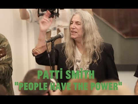 """Patti Smith and Stewart Copeland join Choir! Choir! Choir! for """"People Have the Power"""""""