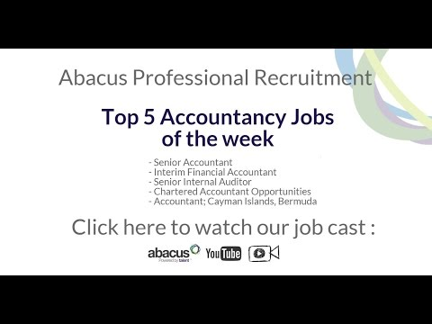 Abacus Professional Recruitment: Top 5 Accountancy Jobs of the week