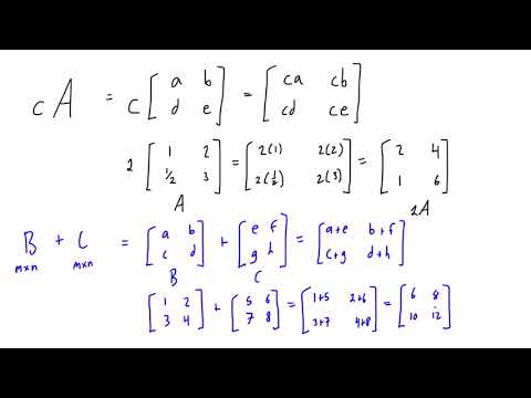Hindi : Addition of Matrix - Matrix Addition - Algebra of Matrices - Ch 3 - CBSE Class 12th Math from YouTube · Duration:  7 minutes 6 seconds