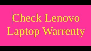 Check laptop warranty
