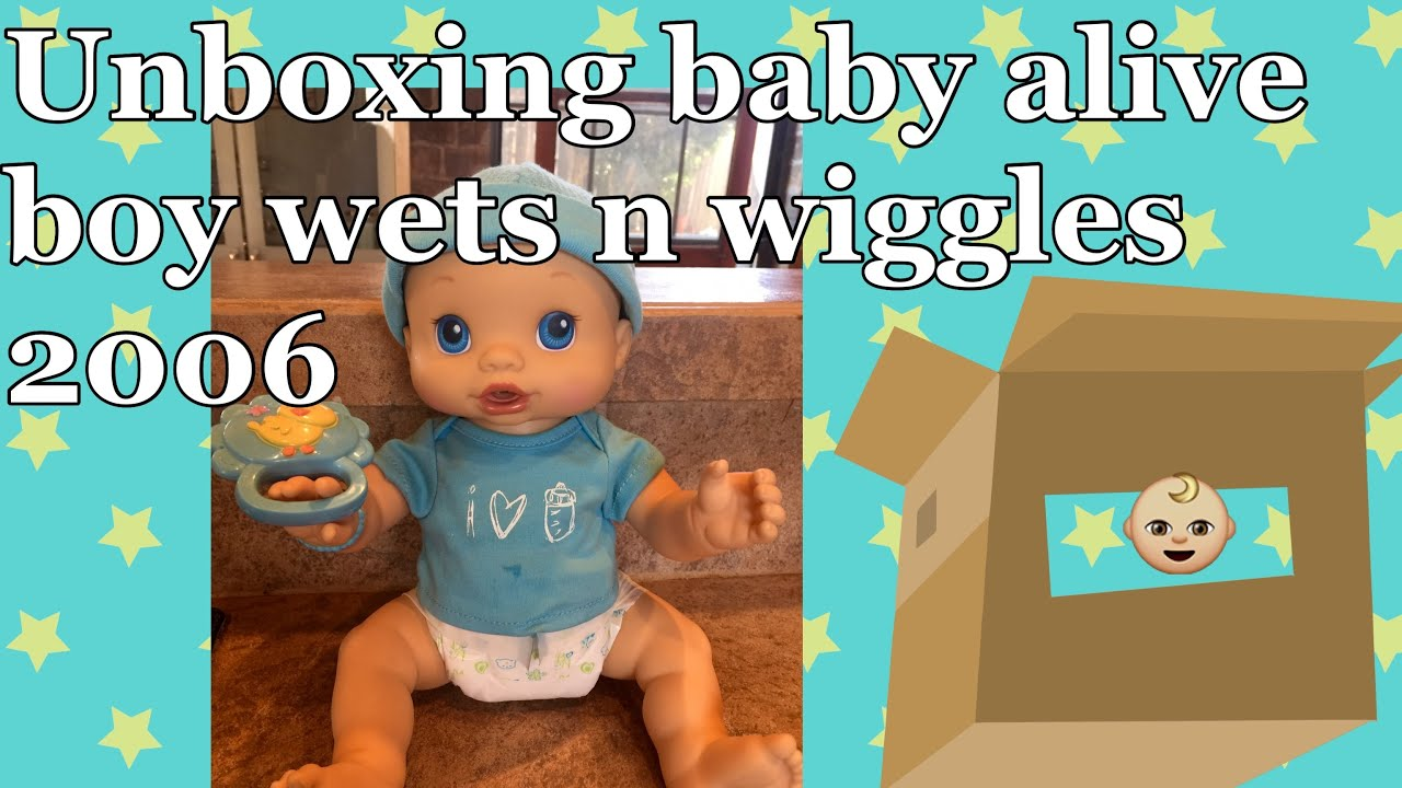 Baby Alive Wets N Wiggles Boy Doll Unboxing Baby Alive Boy