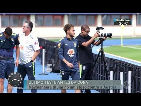 Confira os preparativos da Seleção para o amistoso contra a Áustria   SBT Brasil (09/06/18)