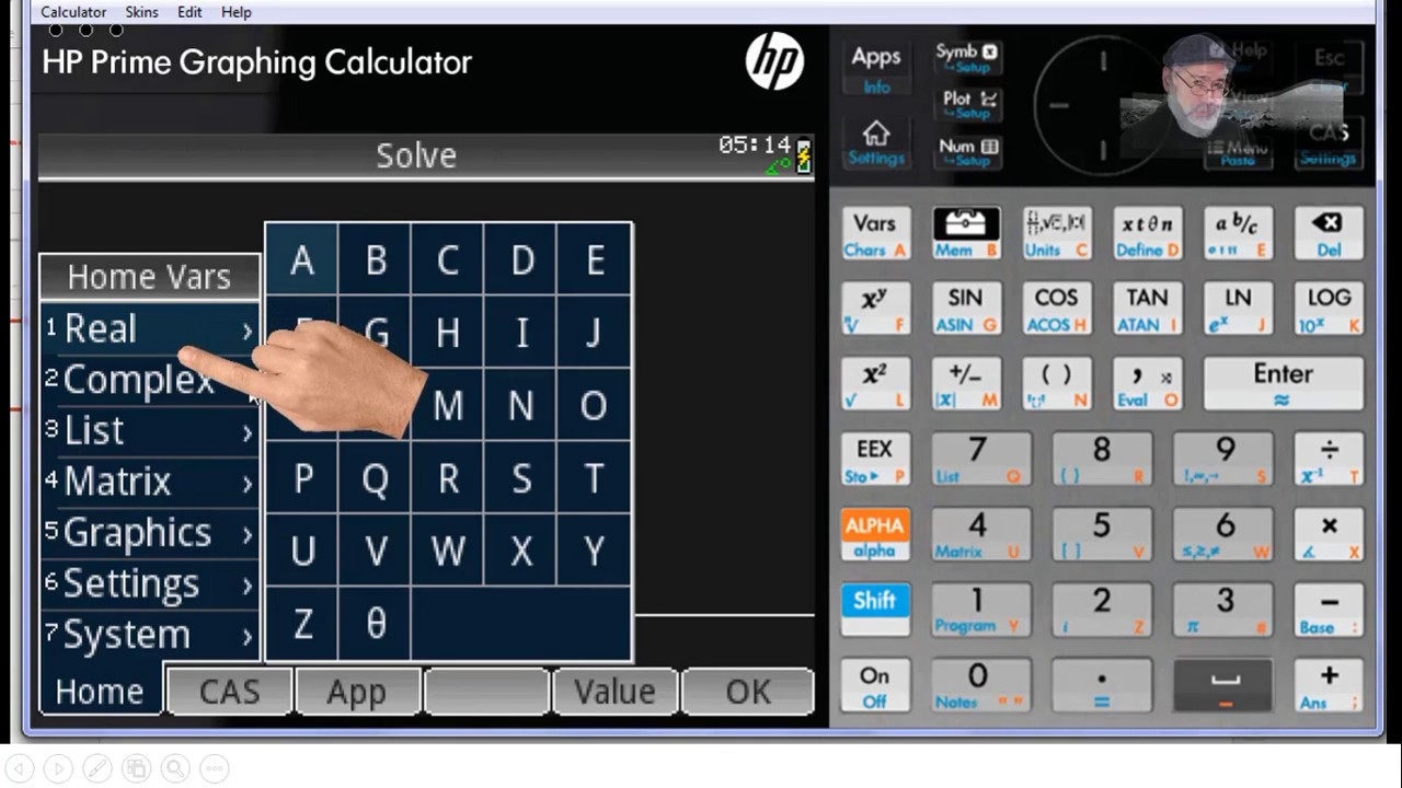 HP PRIME 03 - Variables and Systems of Equations
