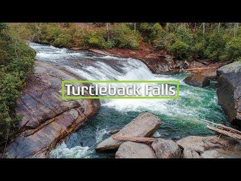 Turtleback Falls, North Carolina Drone Video