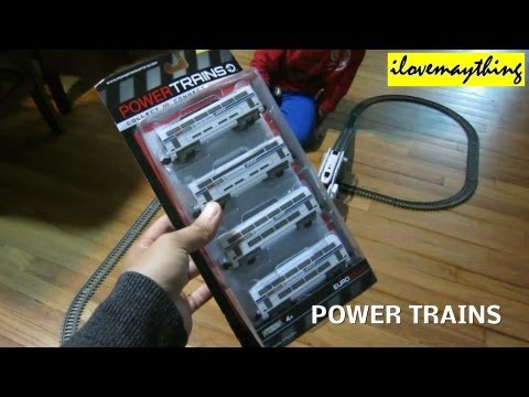 Toy Trains for Kids: Unboxing Power Trains Play Set