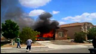 Video shows Albuquerque westside home engulfed in flames