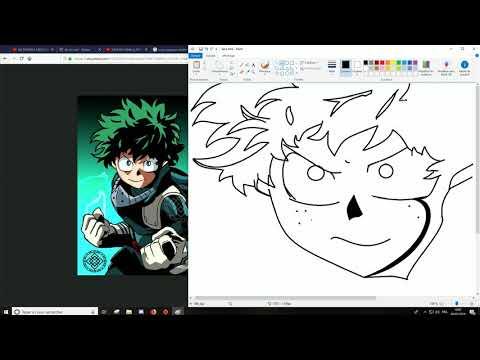 Izuku Paint Drawing