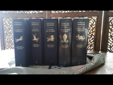 Game Of Thrones (A Song Of Ice And Fire), Harper Voyager, Deluxe Ed., Book 1-5, Slipcase Set (2011)