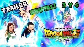 APARECE GOGETA!! TRAILER 3 Y 4 DRAGON BALL SUPER LA PELICULA (REACCION)