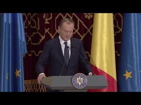 Discursul lui Donald Tusk la Ceremonia de deschidere a Președinției României la Consiliul UE