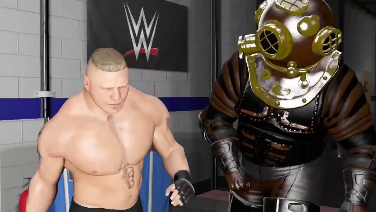 Wwe 2k17 Brock Lesnar Vs Big Daddy